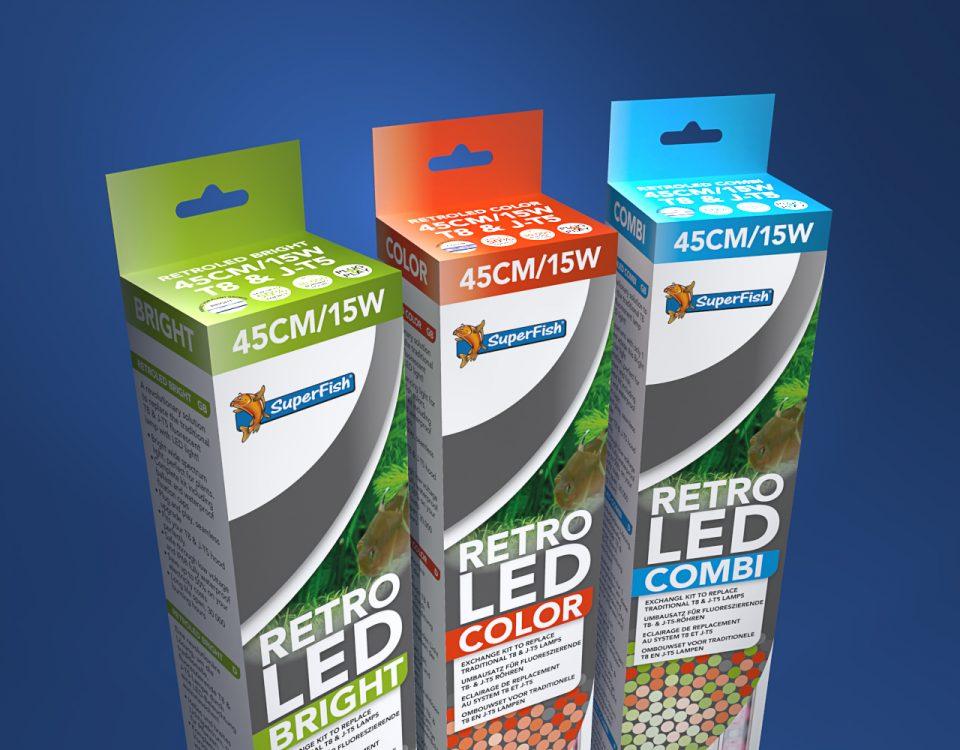 Retro LED productlijn ontwerp